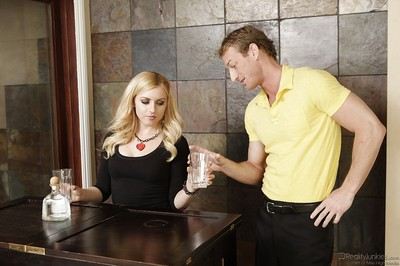 Pretty blond queen with diminutive milk shakes Lexi Belle accepts pounded hardcore