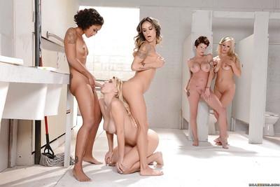 Moist lesbian chicks Nadia Styles, Natalia Starr and Skin Diamond toying themselves