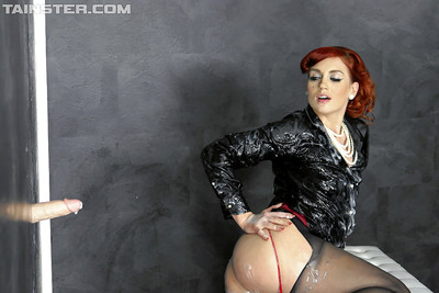 Covered european angel Kety Pearl enjoys filthy gloryhole deed with fake ramrod