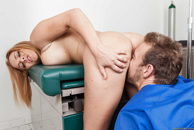 Sexually intrigued nurse Krissy Lynn receives anal shagged and tastes a cum flow