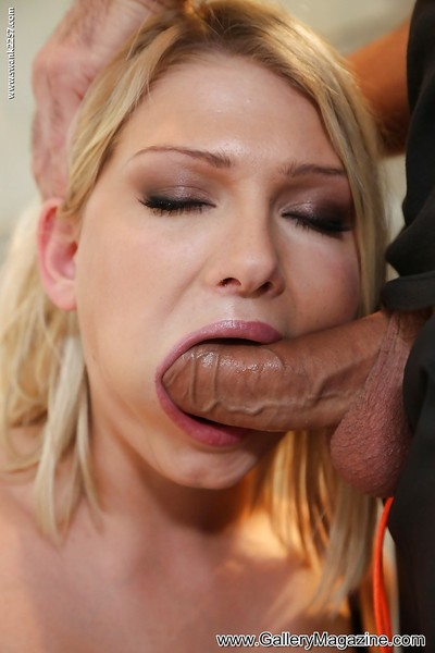 Attractive fairy-haired lass Lucy attains waste owned and some sex cream on her face