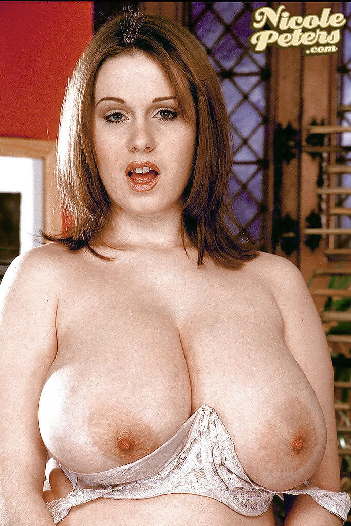 Obese 1st timer Nicole Peters freeing giant hooters in office