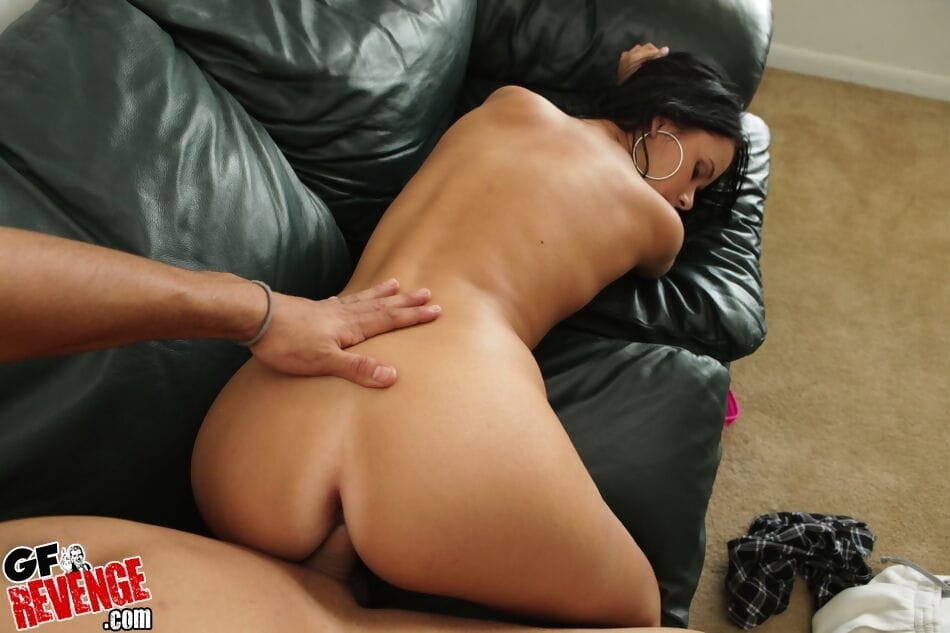 Bosomy brown hair accepts shagged hardcore and takes a creamy cum flow on her previously