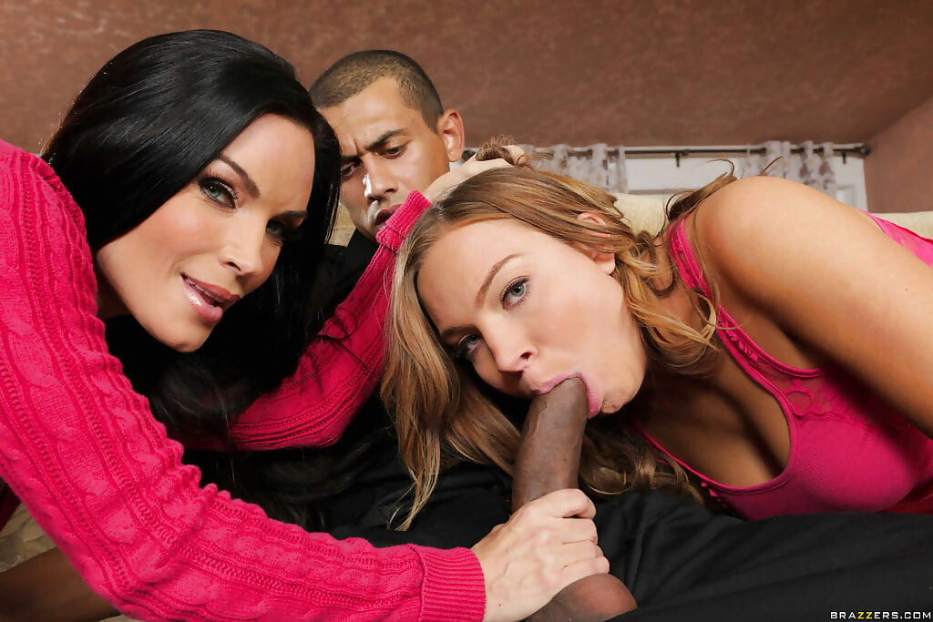 Hot Diamond Foxxx and Tiffany Bannister full around with mammoth swarthy shlong