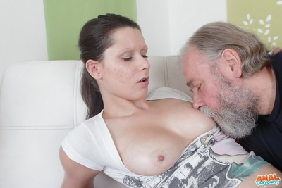 None of the things crooks her on bigger number of than the opportunity to be violated by a immense large phallus tied to a grandpapa who fond of anal virgins.