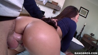 Fabulous Japanese angel morgan lee fucked in group with a large one