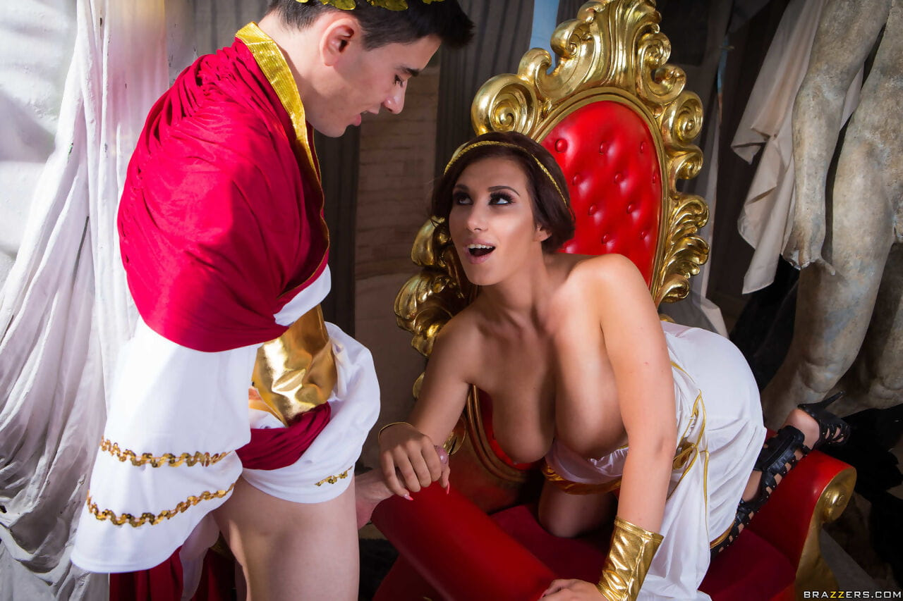Rounded playgirl Ayda Swapper role plays Cleopatra at the same time as astonishingly Caesar