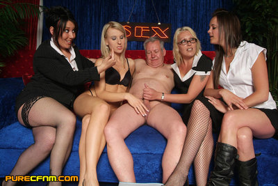 Four models take your clothes off and masturbate stallion manager at end of ripened chat show