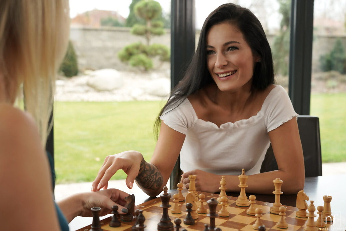 Both ways pretties have fun chess previous to a MMF in the focal point of the day