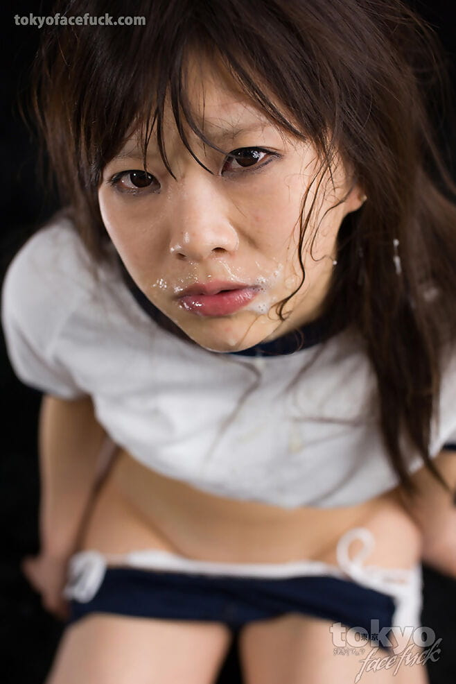 Japanese lass has her hands fastened behind backwards in advance of a bawdy face fuck