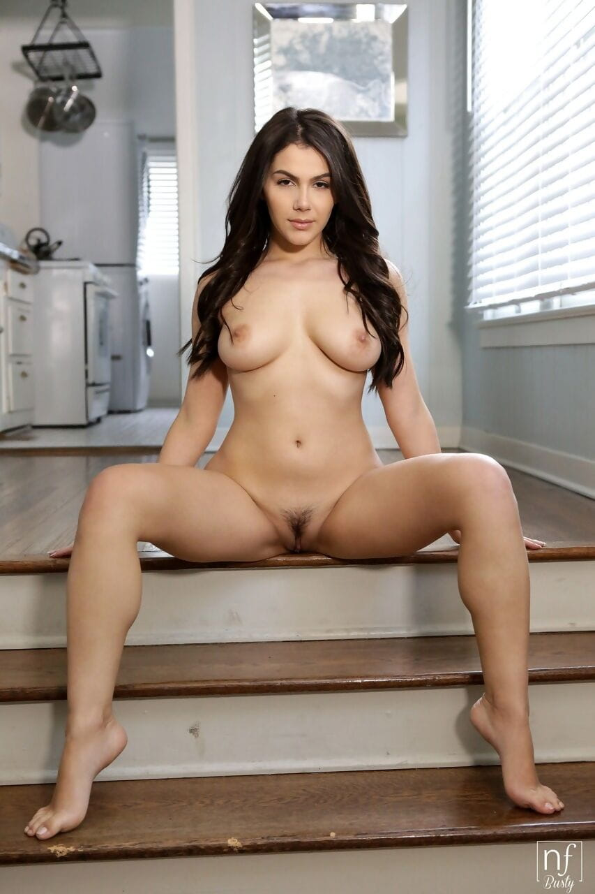 Modish Valentina Nappi bars her worthy gigantic meatballs for rug munch & table fuck