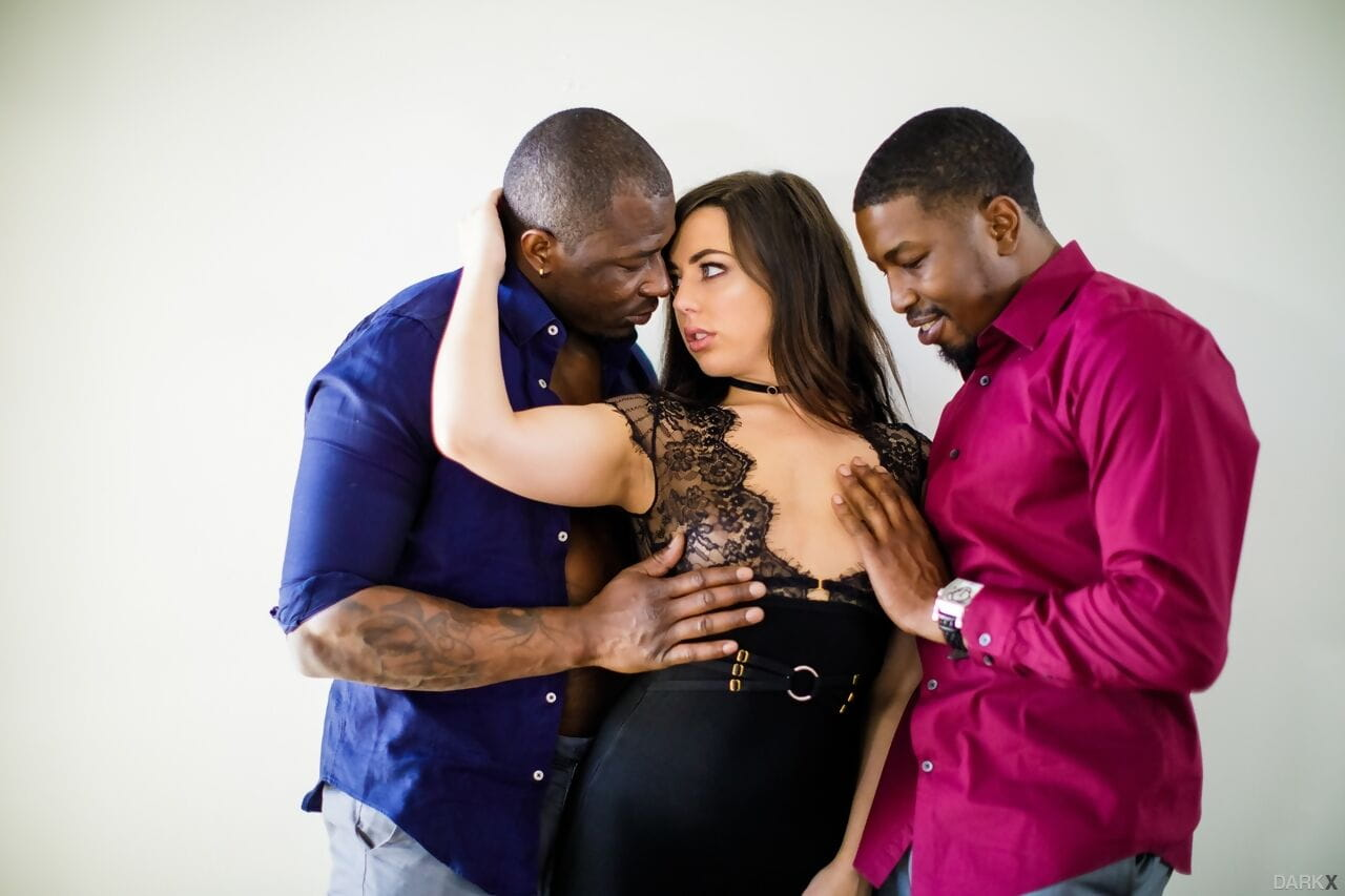 Sweaty dark hair Whitney Wright experiences an interracial once in a time penetration