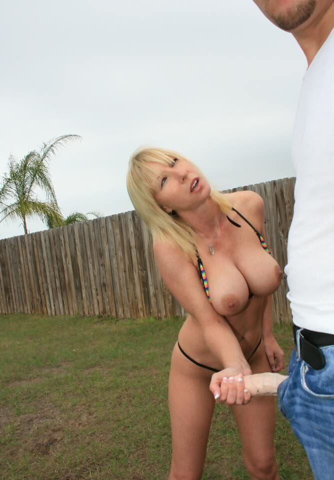Massive busted MILF gives a stunning cock stroking and purchases bukkaked outdoor