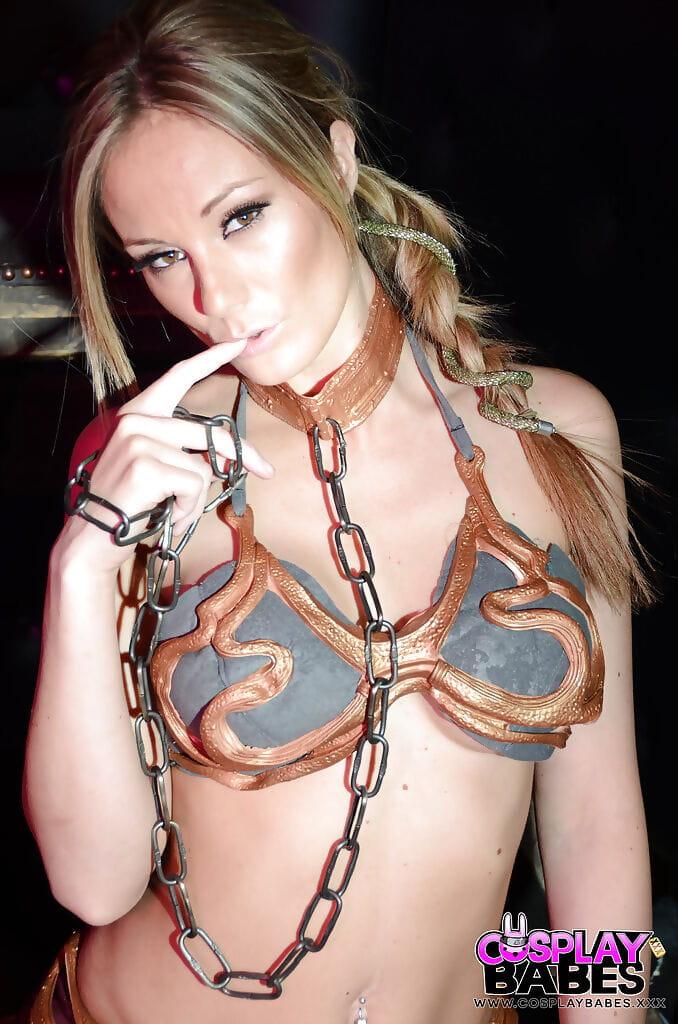 Willowy gal Elizabeth Bally offers her stunning gigantic boobies