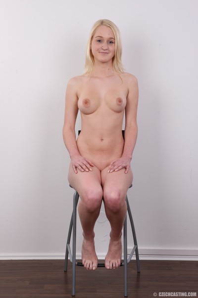 Diminutive blond young positions exposed
