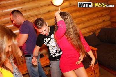 Childlike student all together became sexually excited DP fuckfest