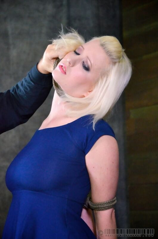 Wild golden-haired MILF Cherry Torn fastened for mandatory BBC deepthroat & Fuck and play torment
