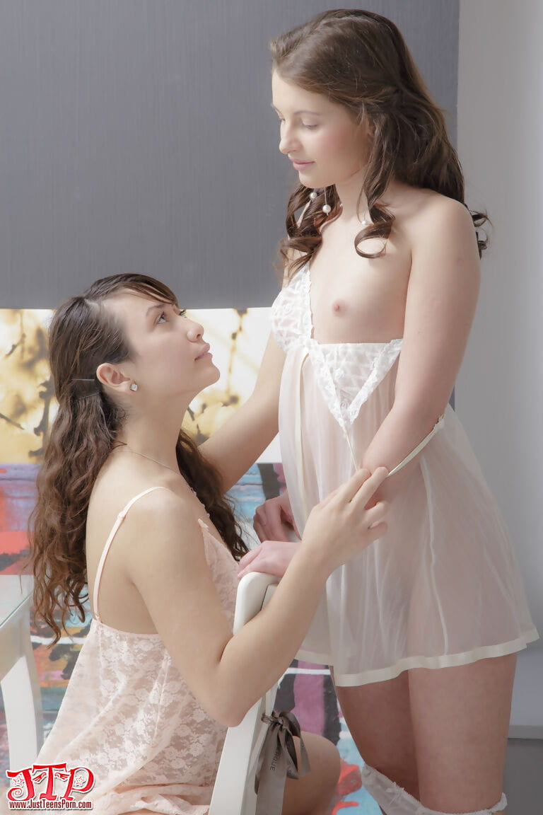 Infant two way sex darlings have a MMF with their stud ally