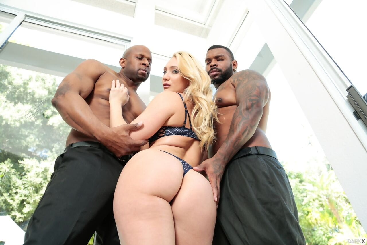 Bootylicious AJ Applegate has an interracial anal dual males plus one female with dual brown males