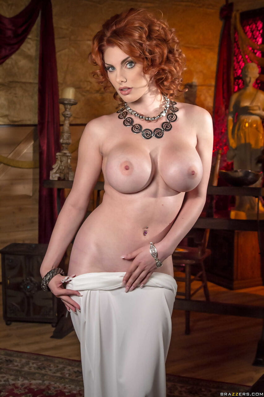 Redhead case Lilith Craving goes down lacking an evening costume to pose in the bare