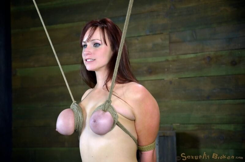 Bella Rossi is fastened down and suspended in a miscellany of hardcore subordination way