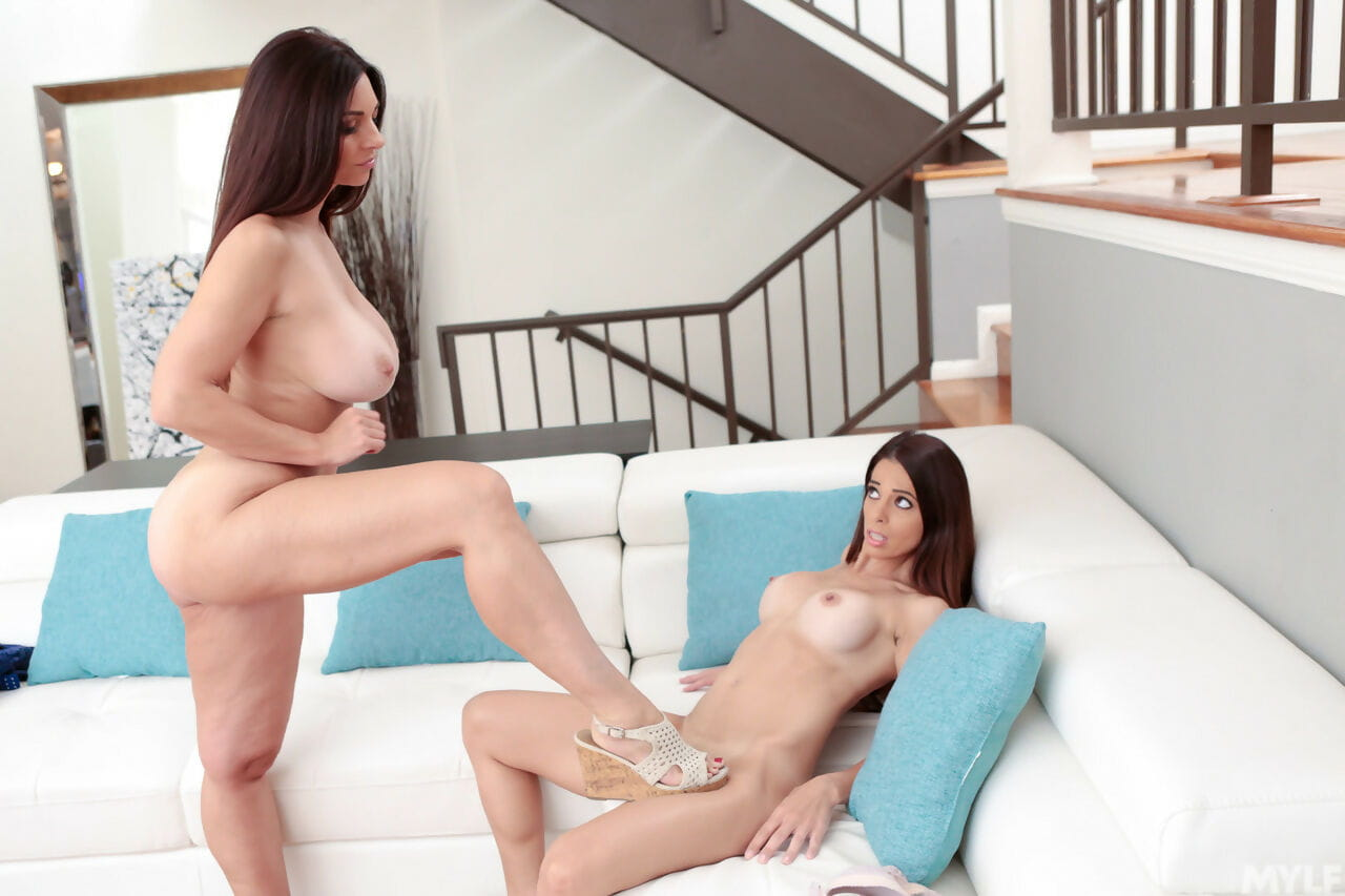 Fascinating MILFs Eva Feel like and Mindi Mink scissor and fuck every other
