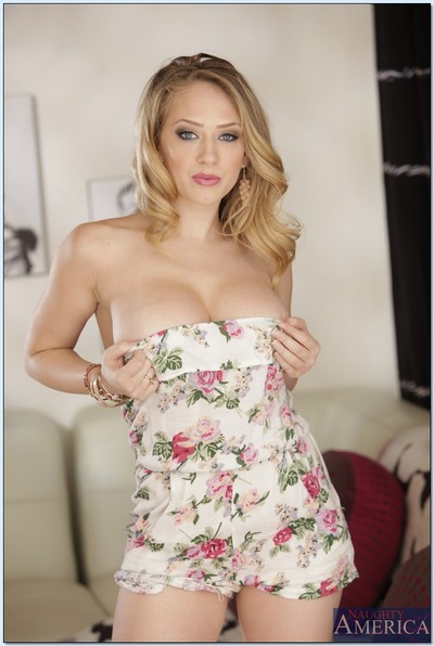 Cute wife with weighty juggs Kagney Linn Karter jacking off