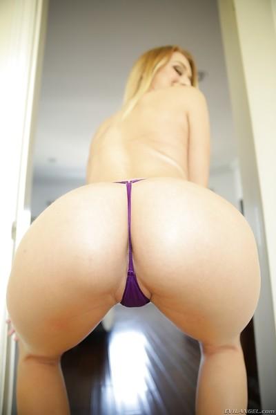 Pornstar Natalia Starr lets precious waste shine thru in strap underwear