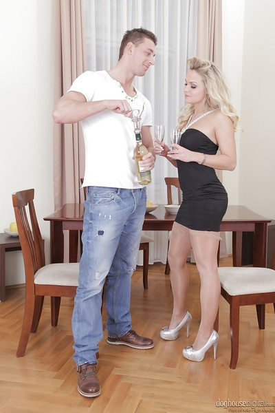 Barra Brass acquires fucked and bonks her pal agone by a  sextoy