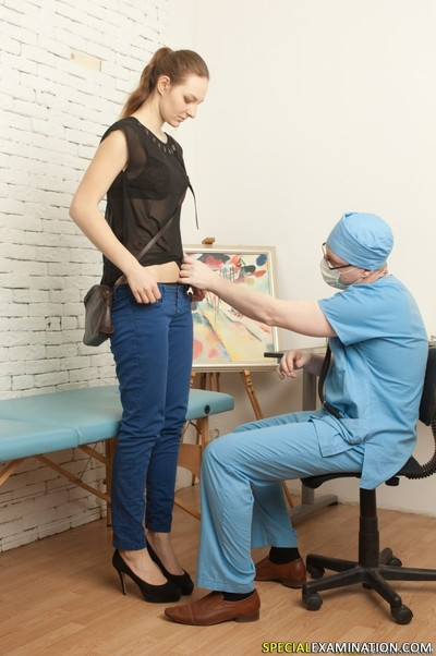 Gyno doctor humiliates and tyrannizes his shy young accepting
