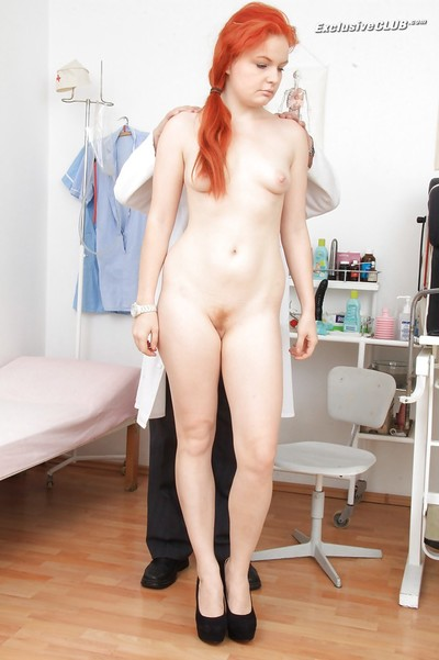 Well-graced redhead Barbara Babeurre accepts inspected by lustful gino