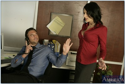 Large titted office beauty Juelz Ventura getting her inflexible pink forced