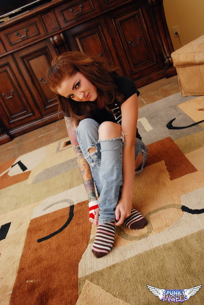 Jeska vardinski teases with her wonderful fixed booty in ripped jeans
