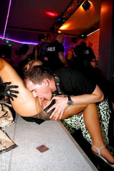Horny MILFs getting their love-cages punched with sticks at the banging gathering