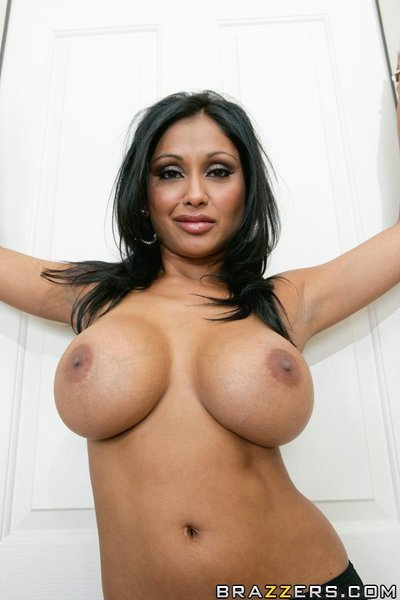 Indian wife Priya Anjeli Rai shows her zeppelins and fingers her snatch