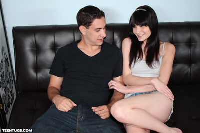 Lewd juvenile Chloe playing with dick her BF colossal stick