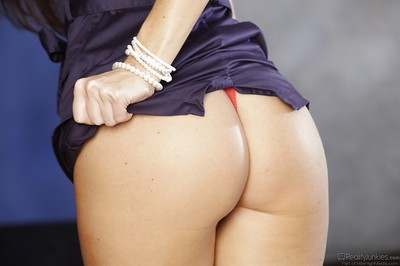 Dark brown prostitute India Summer is admirable off her blue clothing