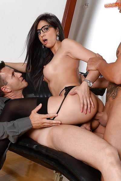 Alluring secretary Julia D Lucia giving fellatio despite the fact getting bonked