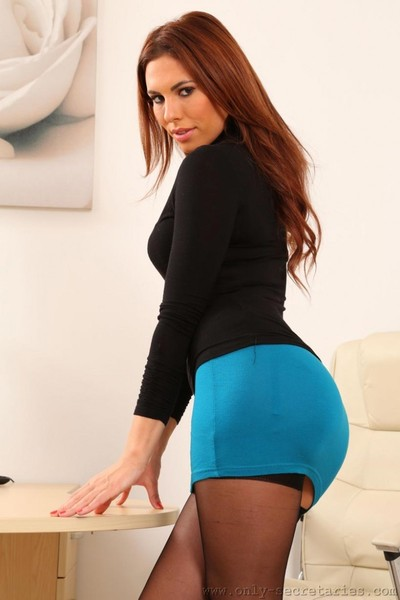 Attractive secretary with a pretty arse