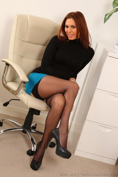 Attractive secretary with a pretty arse