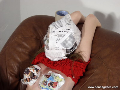 Teen subbie isanne is caught reading a newpaper by her mistre