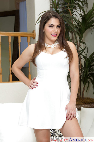 Stunning young girl Valentina Nappi baring her damp immense ass