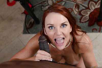 Interracial act of love features cougar milf with large bra buddies Janet Mason