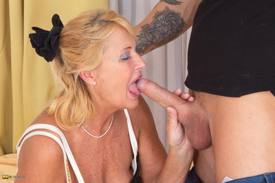 Sexually excited mellow bitch having banging with her implement boi