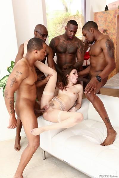 Riley reid in interracial group deed