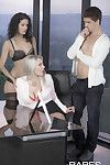 Leanna attractive shares her husbands cock with his secretary victori