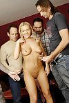 Doll bree olson attains off four chaps in a hit team fuck