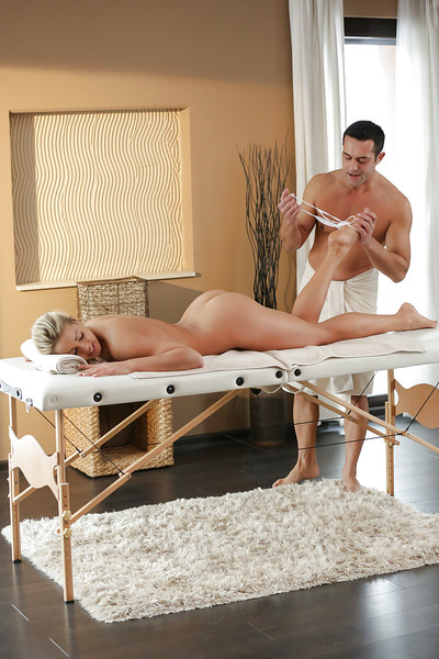 Christen Courtney enjoys oil massage before analingus and anal fingering
