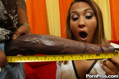 Horny babe Sierra Snow getting persuaded by a giant dick and fucked