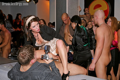 Seductive european party prostitutes going down with horny man strippers